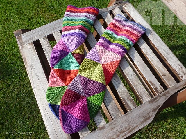 Finished Harlequin Socks