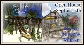 East vs. West Open House Sign Framed | by Hidden Gems in Second Life (Interior Designer)