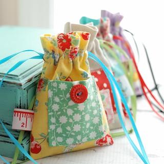 Mixed Bag drawstring pouches