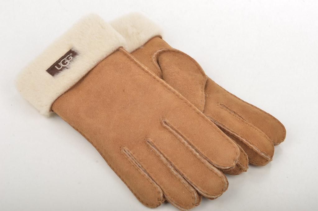 Original wählen super service Ruf zuerst Ugg Australia Turn Cuff Glove Handschuhe Lammfell gefütter ...