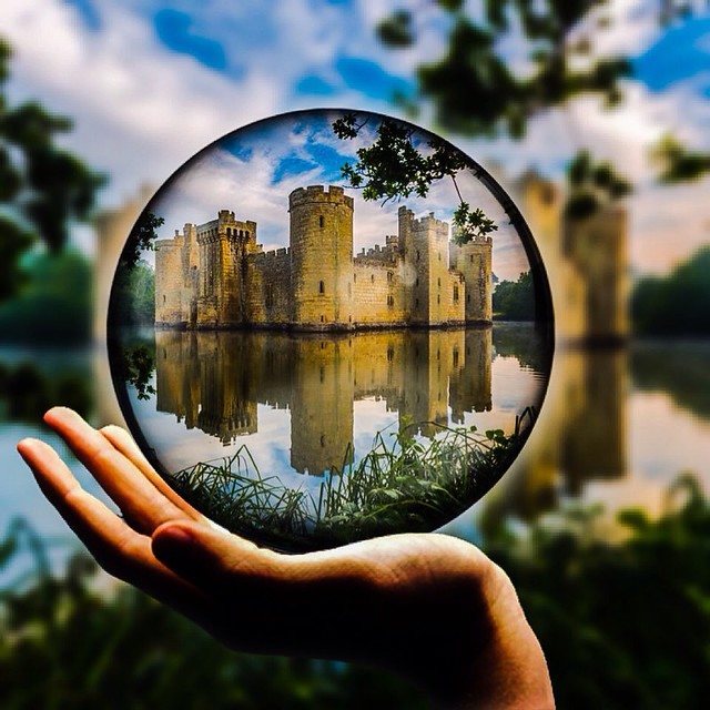 Playing around with an image I took at bodiam castle