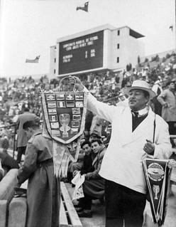 los banderines del campeonato mundial de futbol 1962 santiago de chile