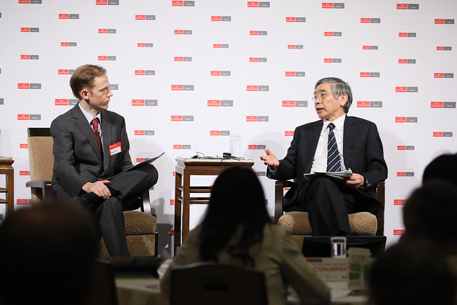 Haruhiko Kuroda, governor of Bank of Japan in conversation with Simon Cox, emerging markets editor, The Economist