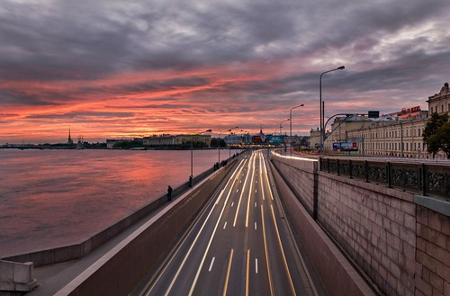 clouds sky city нева питер россия санктпетербург d7100 urban cityscape sunset embankment trails longexposure road river neva russia stpetersburg nikon
