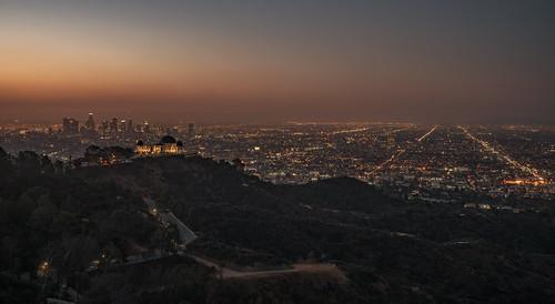 griffithobservatory dtla losangeles la california landscape longexposure streetlights depth sunrise dusk fullframe amerika © reiniersnijders ©reiniersnijders
