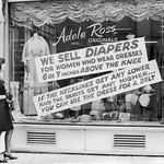 [1966] Adele Ross Clothing 1966 anti-miniskirt signs