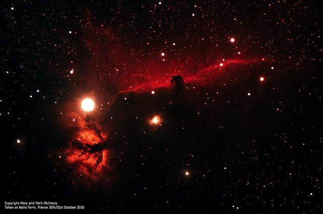 Horsehead Nebula & Flame Nebula 30th/31st October 2016