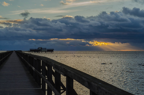 pier openairbath sky cloud bjärred lomma skåne sweden outdoor öresund sea water