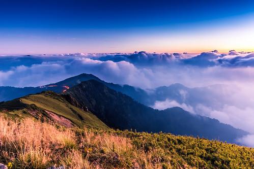 cloud mountain sunrise ngc 夕陽 日落 合歡山 雲海 hehuan hehuanshan 合歡主峰