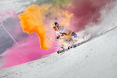 Marcel Hirscher performs during the project 'Marcel Hirscher Colours' at Reiteralm near Schladming, Austria on March 24th, 2015  // Philip Platzer/Red Bull Content Pool // P-20150402-00166 // Usage for editorial use only // Please go to www.redbullcontentpool.com for further information. //