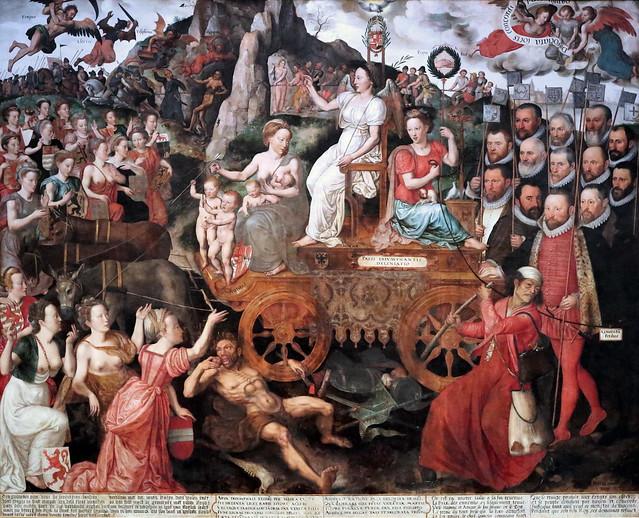 IMG_3193E Pieter II Claessens. 1535-1623. Allégorie de la Paix aux Pays Bas en 1577. Allegory of Peace in the Netherlands in 15771577. Bruges. Groeninge Museum.