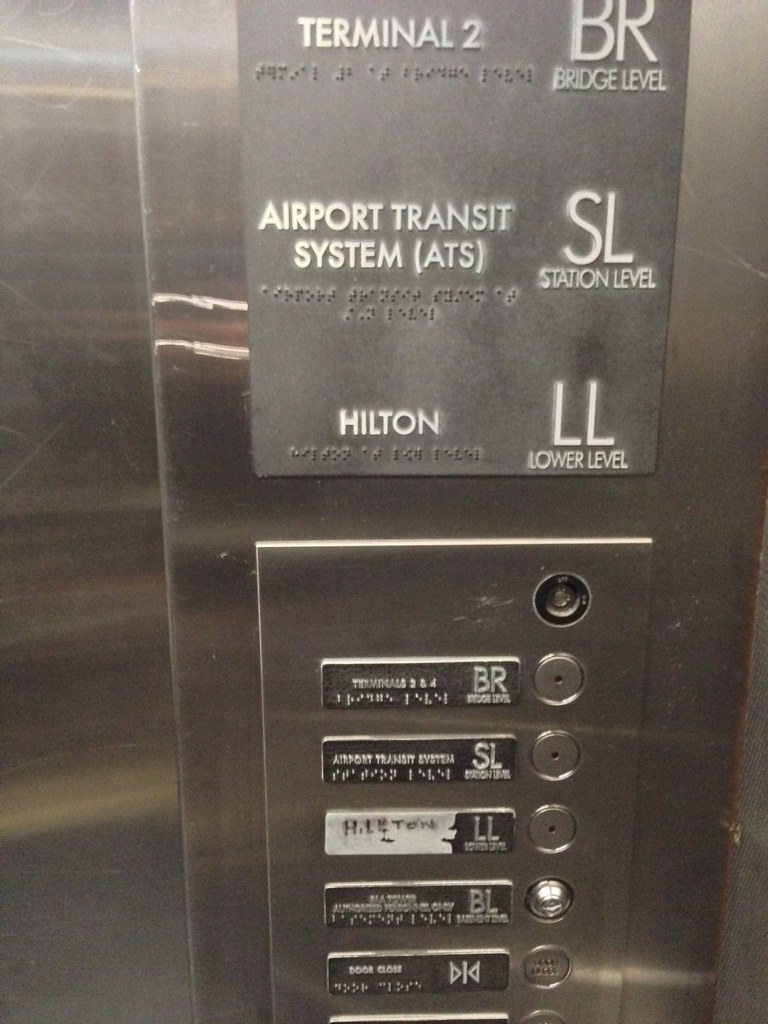 Spot The Error In This Elevator Panel At O Hare Airport