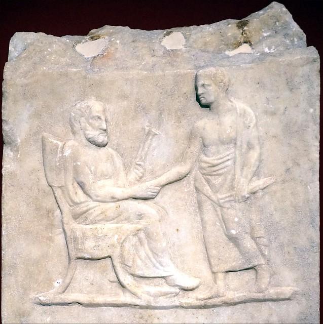 La transmission artistique du père au fils (Musée national d'archéologie, Athènes)