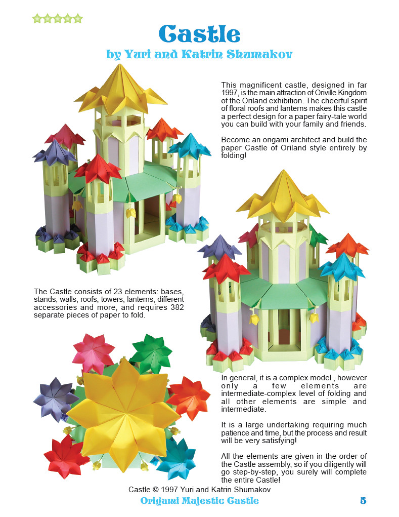 How to make an origami paper Church/Castle - Very easy! 非常簡單的 ... | 1021x789