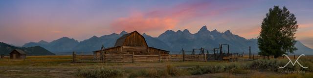Mormon Row Sunrise panorama