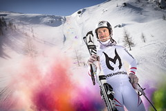 Marcel Hirscher poses for a portrait during the project 'Marcel Hirscher Colours' at Reiteralm near Schladming, Austria on March 24th, 2015  // Philip Platzer/Red Bull Content Pool // P-20150402-00171 // Usage for editorial use only // Please go to www.redbullcontentpool.com for further information. //