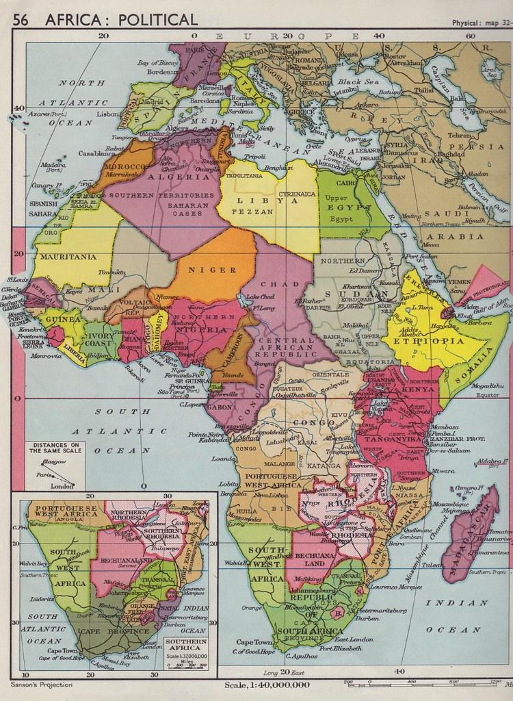 Collins Longman Atlas 1962   Africa Political Map | Steven Feldman