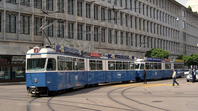 Tram Zürich  Serie Be 4/6 1601 - 1726