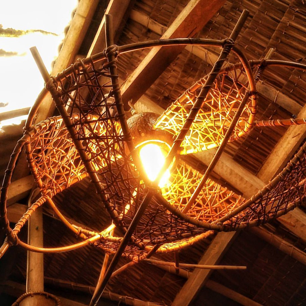 Made to order One-of-a-Kind Rattan Weaved Hanging Lamp Sha ...