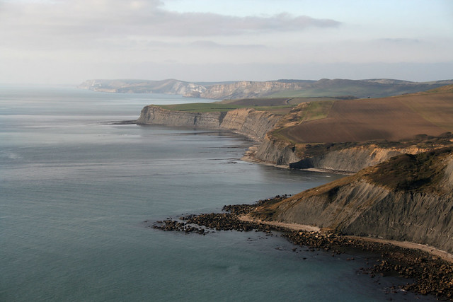View back to Kimmeridge and Worbarrow Bay from St Aldhelm's Head