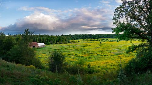 blue trees sunset sky panorama orange ontario canada detail macro green grass yellow clouds barn landscape nikon focus dof purple ottawa valley land d7100 bensenior nikond7100