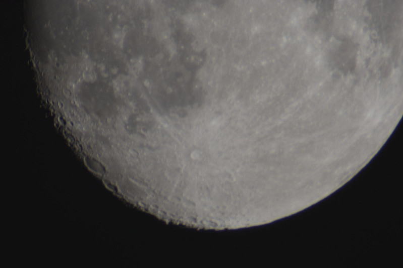 Moon 25-09-2015 2600mm Opteka Lens on Nikon D5300