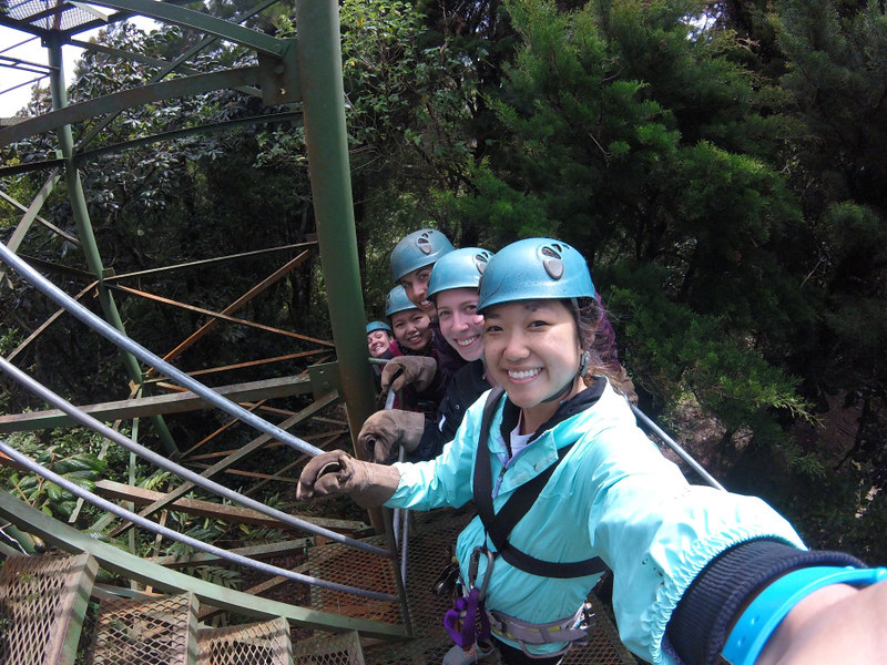 Ching, Anita; Monteverde, Costa Rica - Trip to Monteverde!, Zip lining in the cloud forest