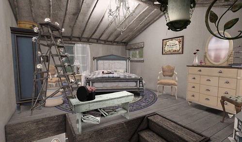 Farmhouse Bedroom_Overview | by Hidden Gems in Second Life (Interior Designer)