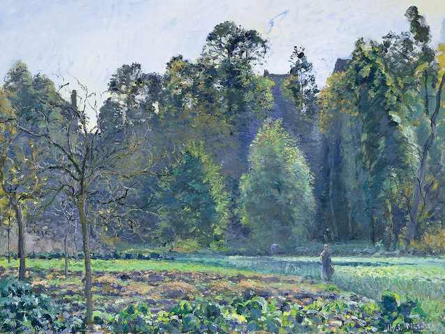 Camille Pissarro - The cabbage field, Pontoise [1873]