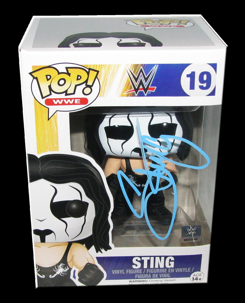 Sting Autographed WWE POP! Funko Vinyl Figure