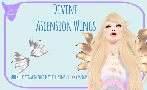 Kitty's Claws: Divine Ascension Wings NOW AT THE MAINSTORE AND MARKETPLACE