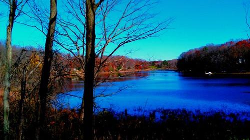 lakes michigan november fall autumn usa 2016