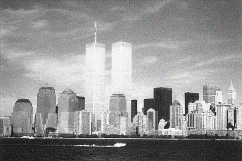 NYC Skyline in Black & White