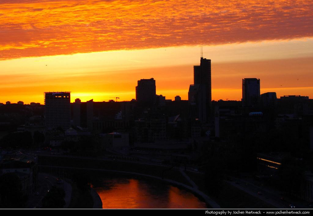 View from Gedimino Pilis @ Sunset, Vilnius, Lithuania
