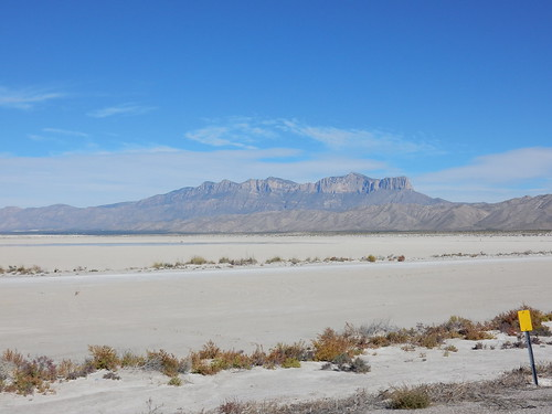 Guadalupe Mountains en Salt Flats