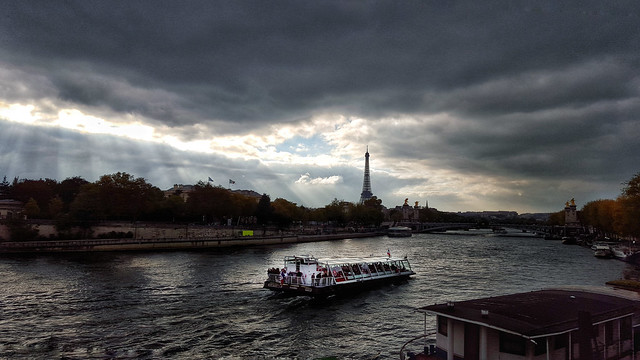 The Seine and the Eiffel Tower from Pont de la Concord