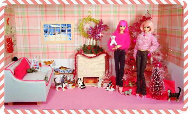 Rosalie & Peony's Christmas Living Room