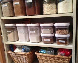 organizing - storing baking ingredients | by EatLiveGrowPaleo.com