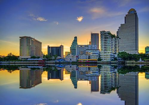 morning sunrise river dawn cityscape bangkok wishyouwerehere chaophraya