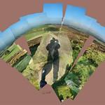 From Bearstone Rock #peakdistrict #whitepeak #bearstonerock #theroaches #shadow #bluesky #fields #landscape #nofilter #hockneyinspired #hockneyesque #followme #like4like #instagrames #instalike #cerisinfield #ceriphotomontage