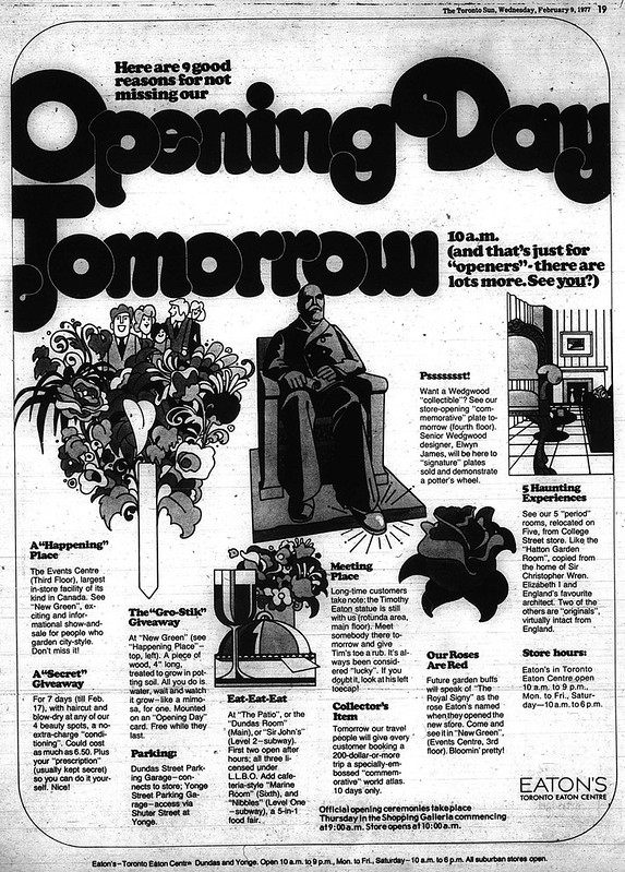 sun 1977-02-09 eatons opening ad