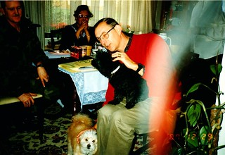 West Germany   -   Giessen   -   CSM Jack & Toni Haynes...very special friends   -   John with Poncho and Gigi   -   29 December 1987