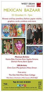 Free Poster. Please Share! Cultural exchange between Mexico and the UK: 23 October, 4-7pm West Dean College Mexican Bazaar @DemianFlores @NeilPyatt @stevebridger | by planeta