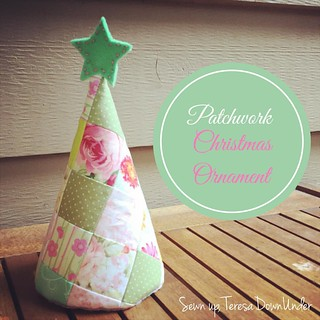 Patchwork Christmas ornament