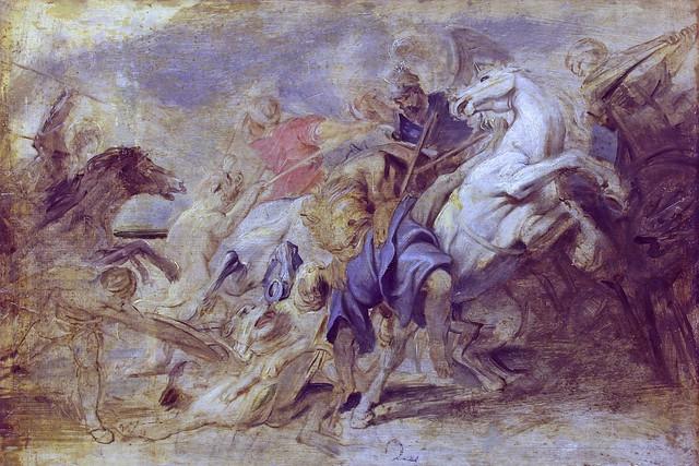 Rubens - Lion-Hunt [1621] (oil sketch) - Hermitage