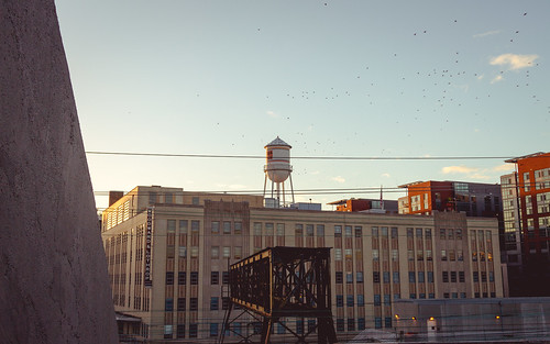 flock lothrop pwerlines 7d flying canon dc noma bluesky watertower uline birds building sunset swampoodle sky woodward washington arena construction raiway districtofcolumbia unitedstates us