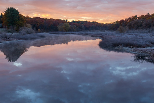 frost chilly sunrise sudburyriver concordma newengland autumn fall muted canon5dmarkii
