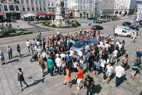Mercedes-Benz F 015 in the main square of Linz | by Ars Electronica