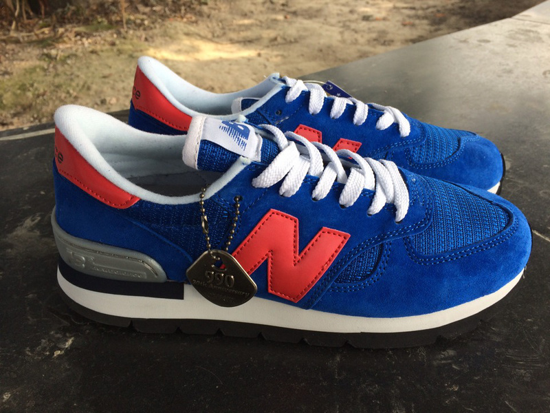 save off 5ff06 e5028 NB 990SB Unisex New Balance 990 Retro Pig Leather Blue Red ...