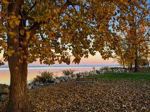 2016 michigan color pure sunset fall november park lake erie metropark